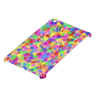 Splatter Paint Rainbow of Bright Color Background iPad Mini Covers