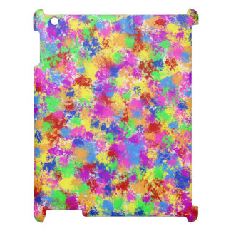 Splatter Paint Rainbow of Bright Color Background iPad Covers