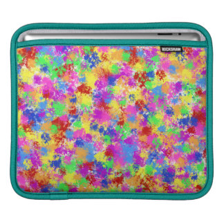Splatter Paint Rainbow of Bright Color Background Sleeve For iPads