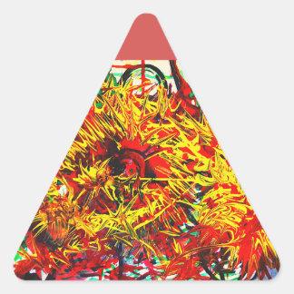Splatter Paint Triangle Sticker