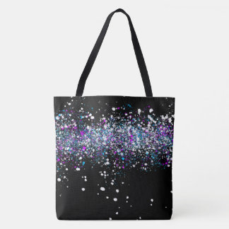 Splatter Pattern - Dark with Blue and Pink Tote Bag