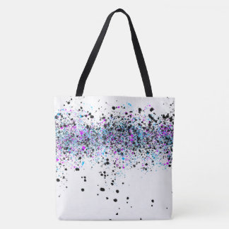 Splatter Pattern - Light with Blue and Pink Tote Bag