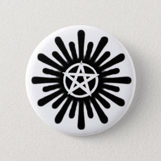 Splatter Pentacle 2 Inch Round Button
