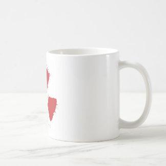 Splatter Radioactive Warning Symbol Coffee Mug