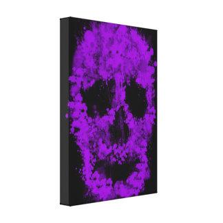 Splatter Skull (violet) Canvas Print