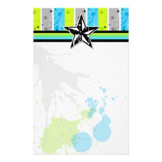 Splatter Star Stationary Stationery