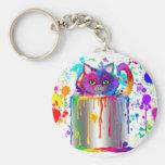 Splatter Time! Basic Round Button Keychain