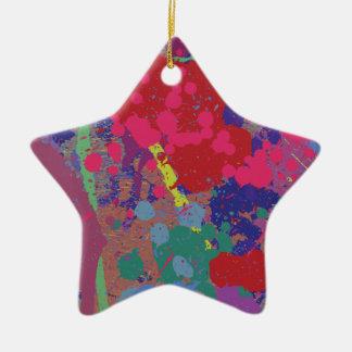 Splattered Ceramic Star Ornament