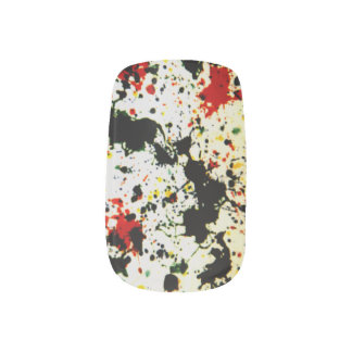 Splattered Paint Minx Nail Art