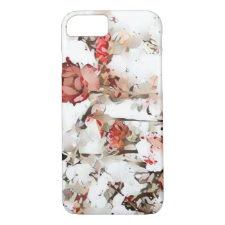 Splattered Red Roses Phone Case