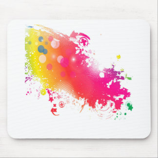 splatters mouse pad