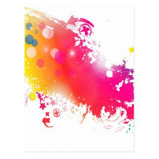 splatters postcard