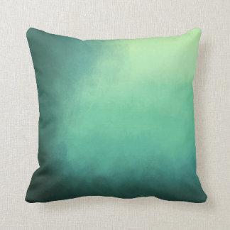 Splendid green kissing throw pillow