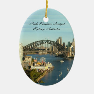Splendored Sunshines, Curby Bridged, Boaty River Ceramic Oval Ornament