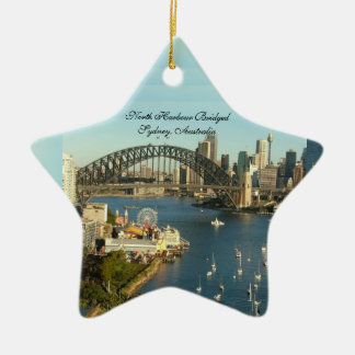 Splendored Sunshines, Curby Bridged, Boaty River Ceramic Star Ornament