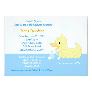 Splish Splash Duck Baby Shower Invitation 5x7