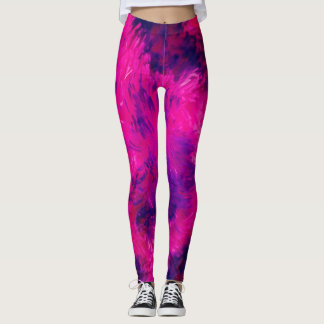Splish Splash Fuscia Leggings