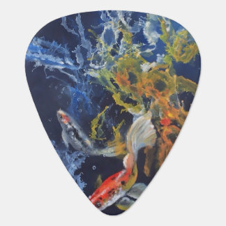 Splish Splash Koi Guitar Pick