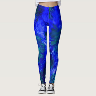 Splish Splash Leggings in Blue Crush