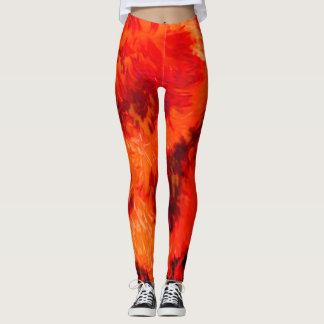Splish Splash Leggings in Inferno