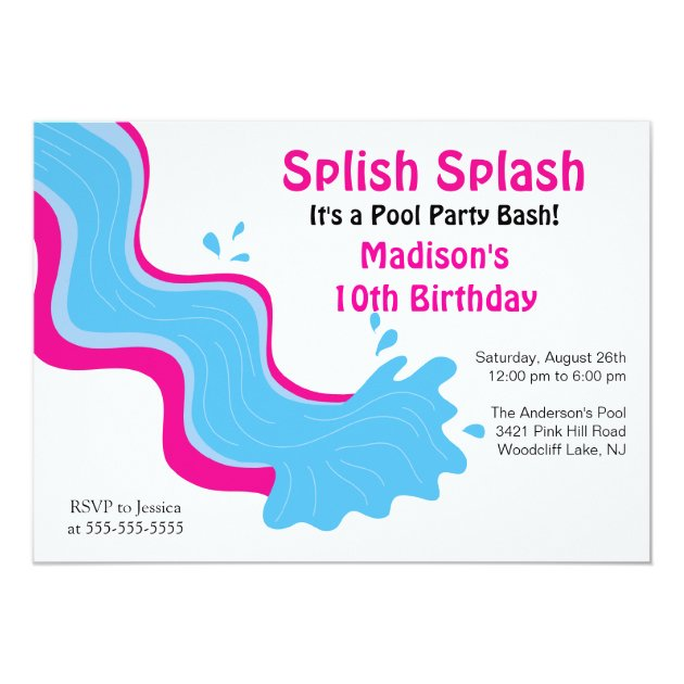 Birthday Invitation Pool Party for great invitations sample