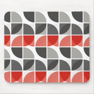 Split Circles S Drop Red Mouse Pad