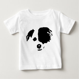 Split Face Border Collie Baby T-Shirt