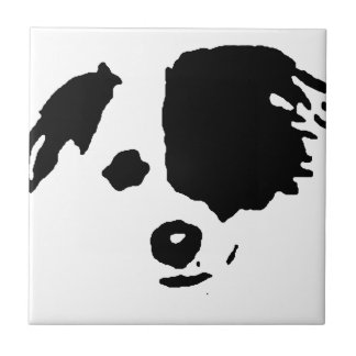 Split Face Border Collie Tile