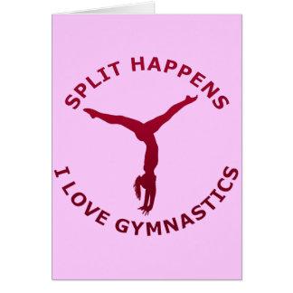 Split Happens - I Love Gymnastics Card