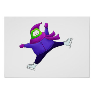 Split Jump Figure Skating Frog Poster