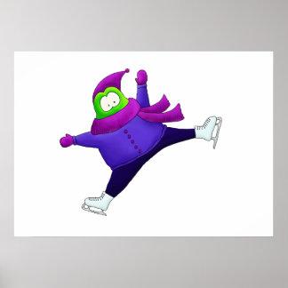 Split Jump Figure Skating Frog Poster