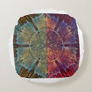 Split Leaf Round Pillow