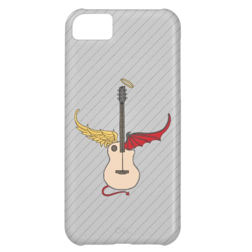 Split Personality Guitar (w/ tail halo) Cover For iPhone 5C