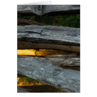 Split Rail Abstract Card