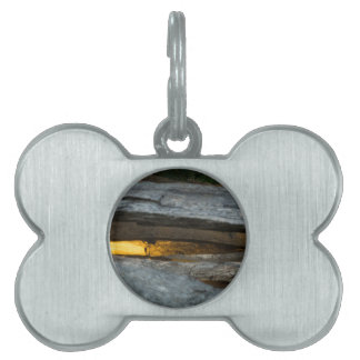 Split Rail Abstract Pet ID Tag