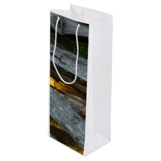 Split Rail Abstract Wine Gift Bag