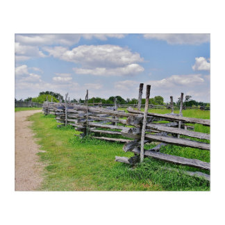 Split Rail Fence Acrylic Wall Art