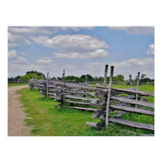 Split Rail Fence Poster