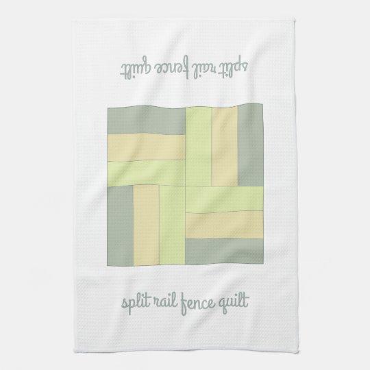 Split Rail Fence Quilt Pattern Kitchen Towel