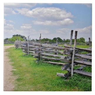 Split Rail Fence Tile
