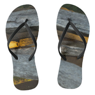Split Rail Texture Flip Flops
