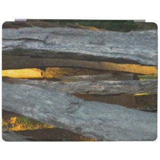 Split Rail Texture iPad Cover
