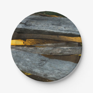 Split Rail Texture Paper Plate