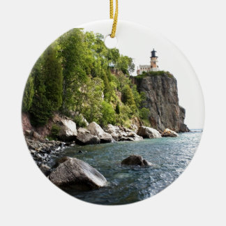 Split Rock Lighthouse Ceramic Ornament
