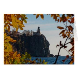 Split Rock Lighthouse in Fall Card