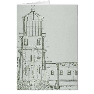 Split Rock Lighthouse Schematics Card