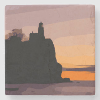 SPLIT ROCK LIGHTHOUSE STONE COASTER