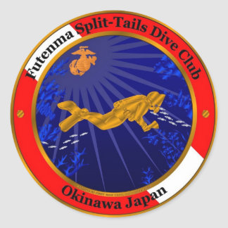 Split Tails Dive Club Classic Round Sticker