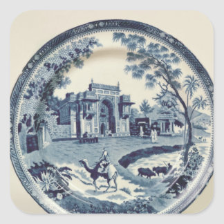 Spode blue and white plate, c.1815 stickers