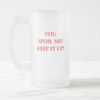 SPOIL FROSTED GLASS BEER MUG